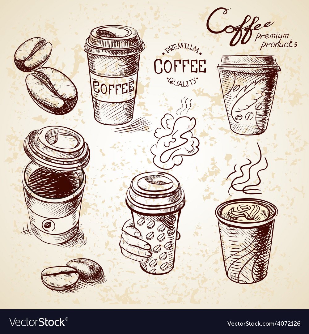 Hand drawn doodle sketch vintage paper cup of vector | Price: 1 Credit (USD $1)
