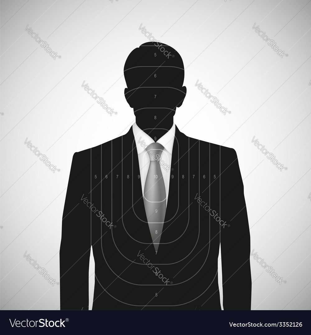 Human silhouette target  unknown person vector | Price: 1 Credit (USD $1)