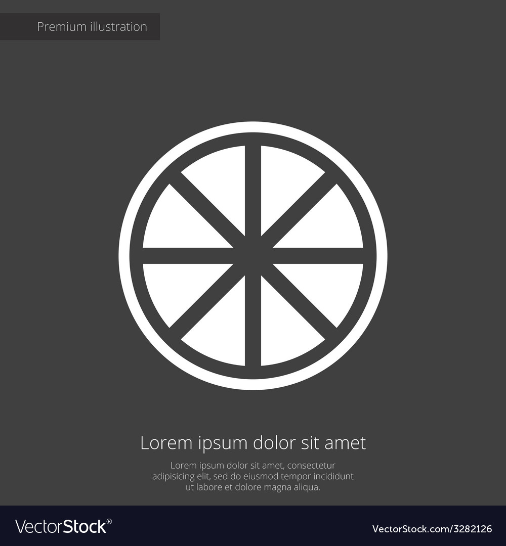 Orange premium icon white on dark background vector | Price: 1 Credit (USD $1)