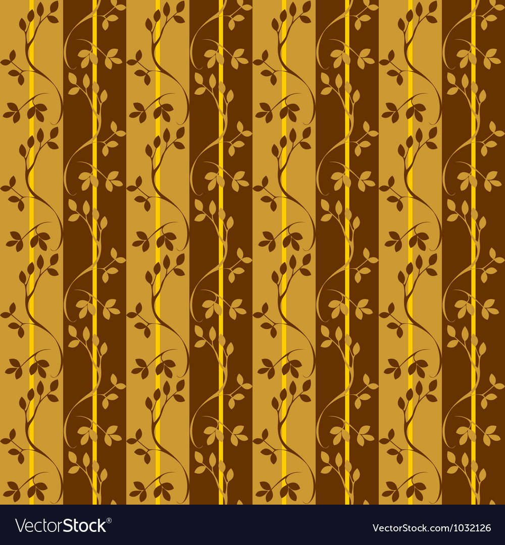 Seamless pattern with branches and leaves vector | Price: 1 Credit (USD $1)