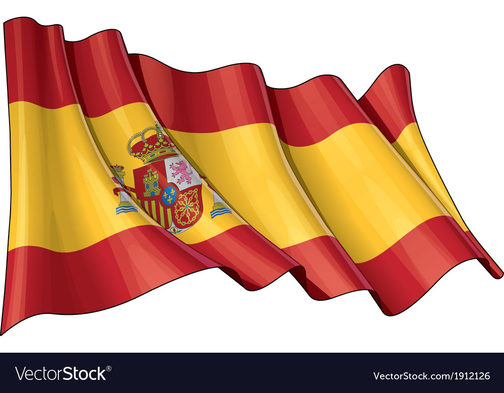 Spain flag vector | Price: 1 Credit (USD $1)