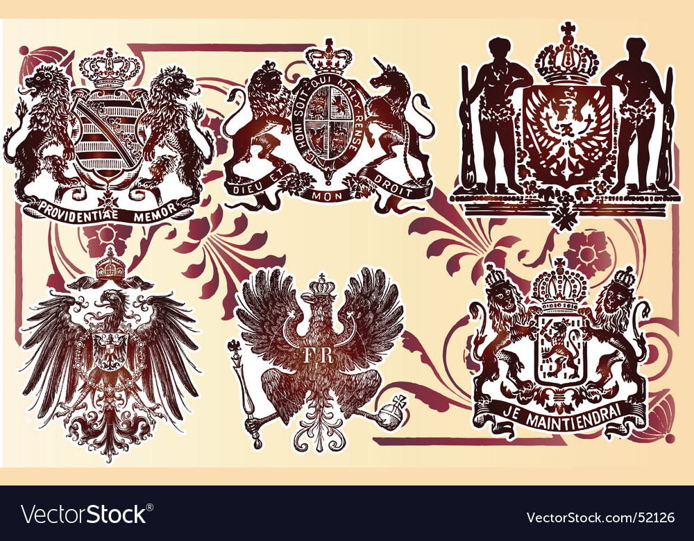 Vintage heraldry emblems vector | Price: 1 Credit (USD $1)