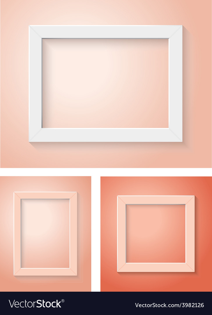 White and red frame set vector | Price: 1 Credit (USD $1)
