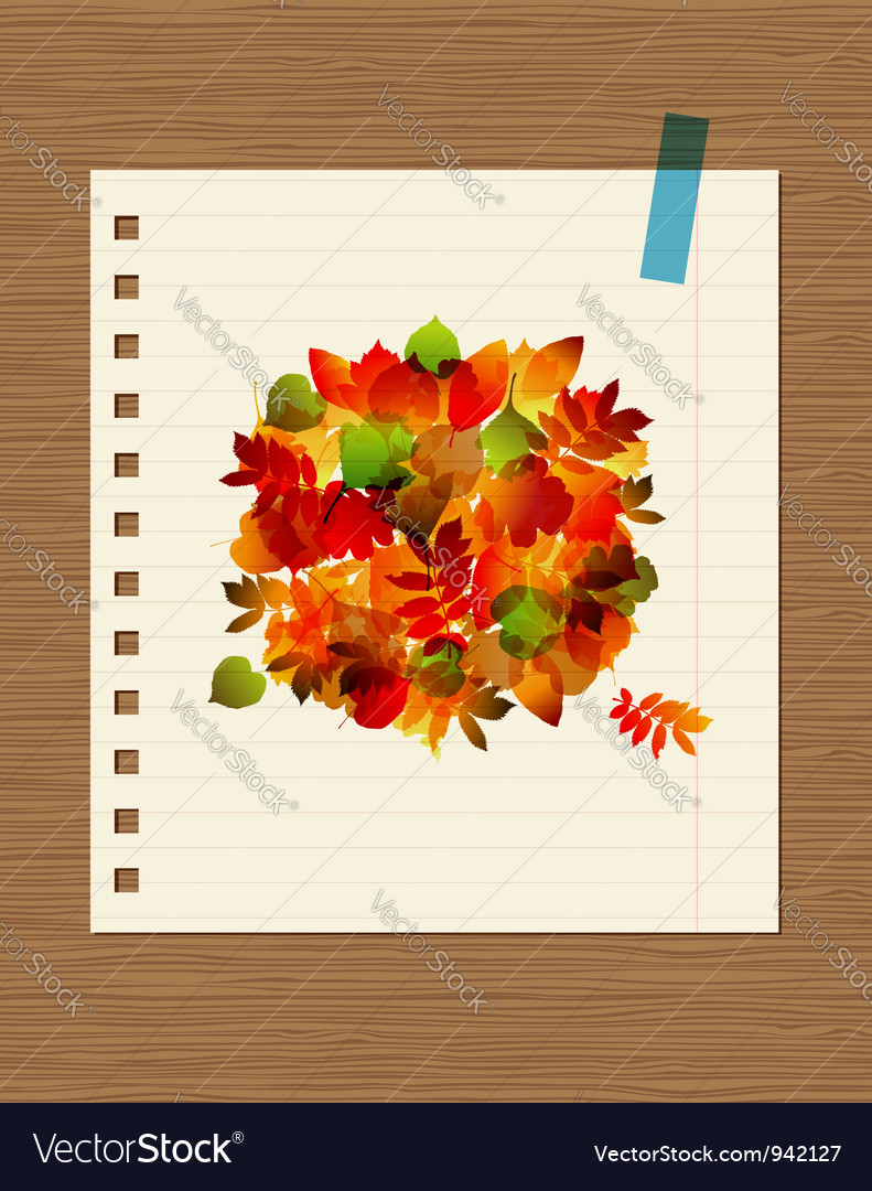 Autumn bouquet with leaf for your design vector | Price: 1 Credit (USD $1)
