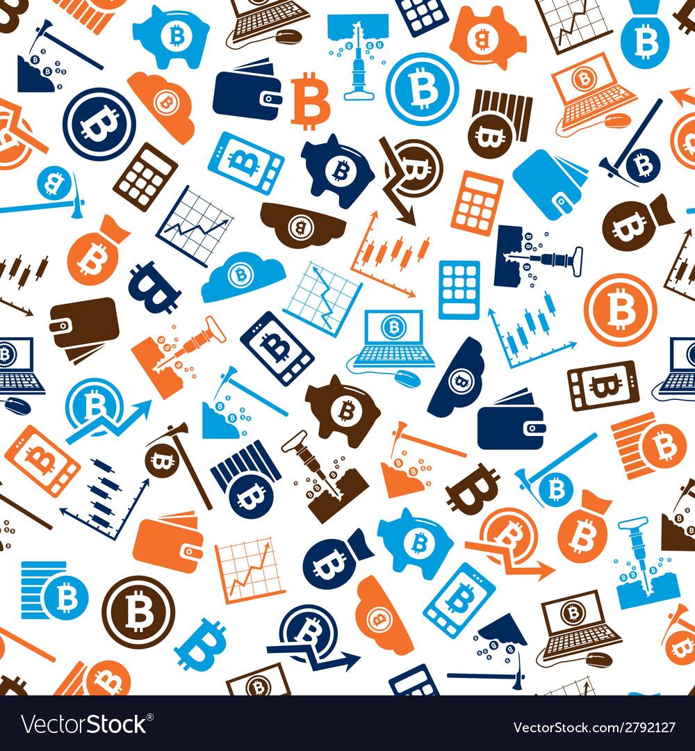 Bitcoin seamless pattern vector | Price: 1 Credit (USD $1)