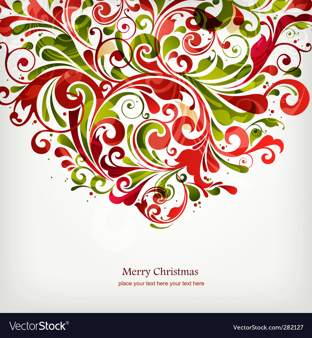 Christmas floral design vector | Price: 1 Credit (USD $1)