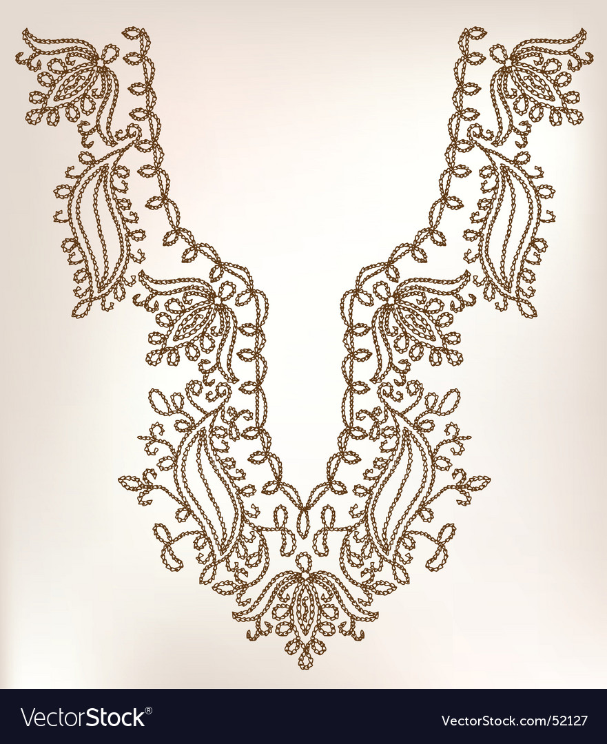 Collar design vector | Price: 1 Credit (USD $1)