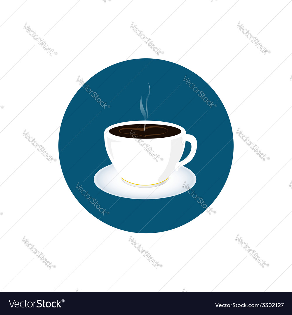 Cup of tea icon cup of coffee icon vector | Price: 1 Credit (USD $1)