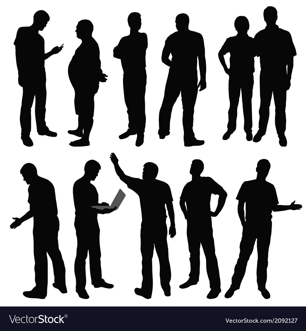 Group of men vector | Price: 1 Credit (USD $1)