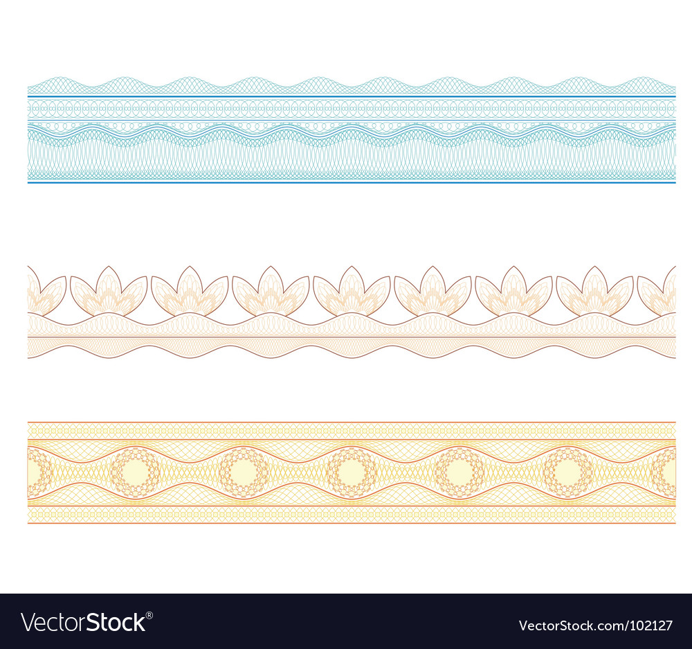 Guilloche borders pattern for currency vector | Price: 1 Credit (USD $1)