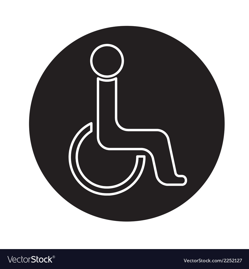Handicap symbol icon vector | Price: 1 Credit (USD $1)