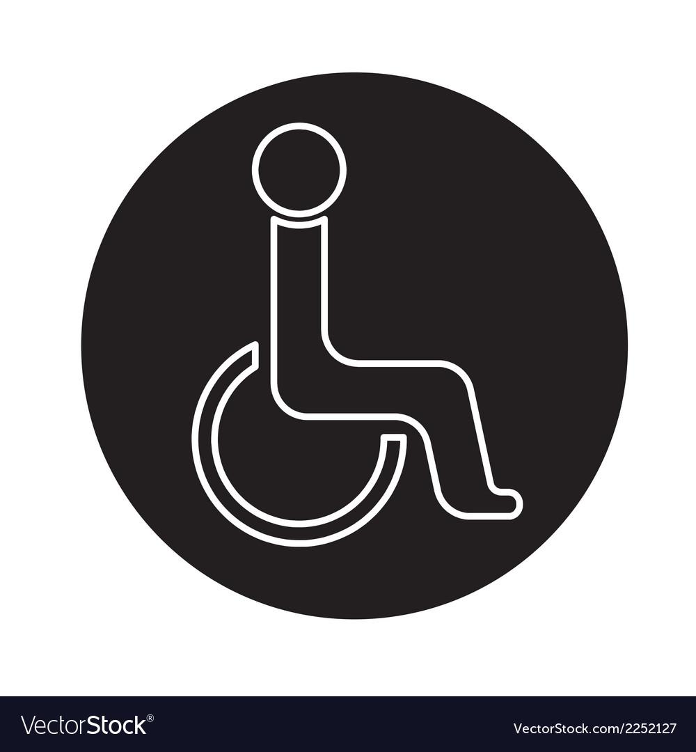 Handicap symbol icon vector | Price: 1 Credit (USD $1)