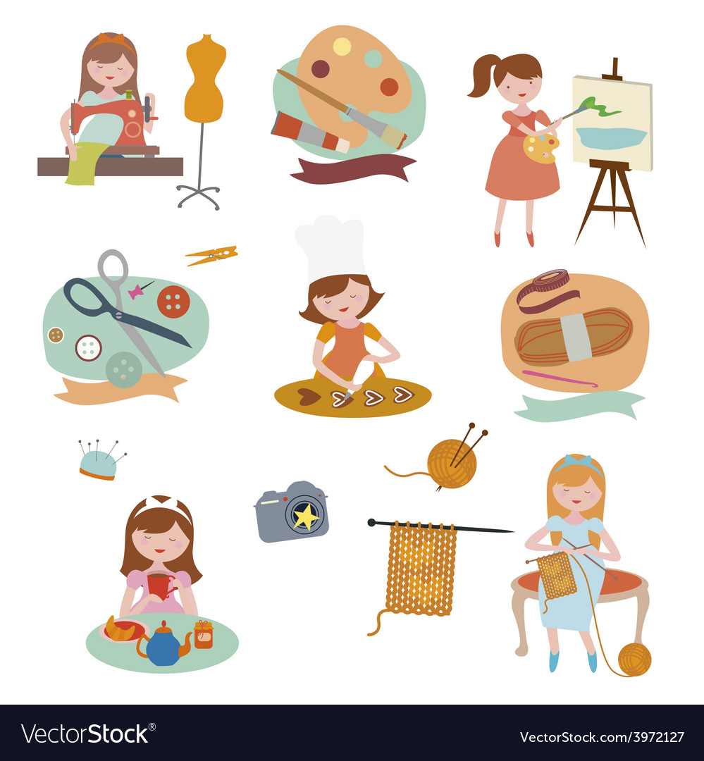 Hobby set vector | Price: 1 Credit (USD $1)