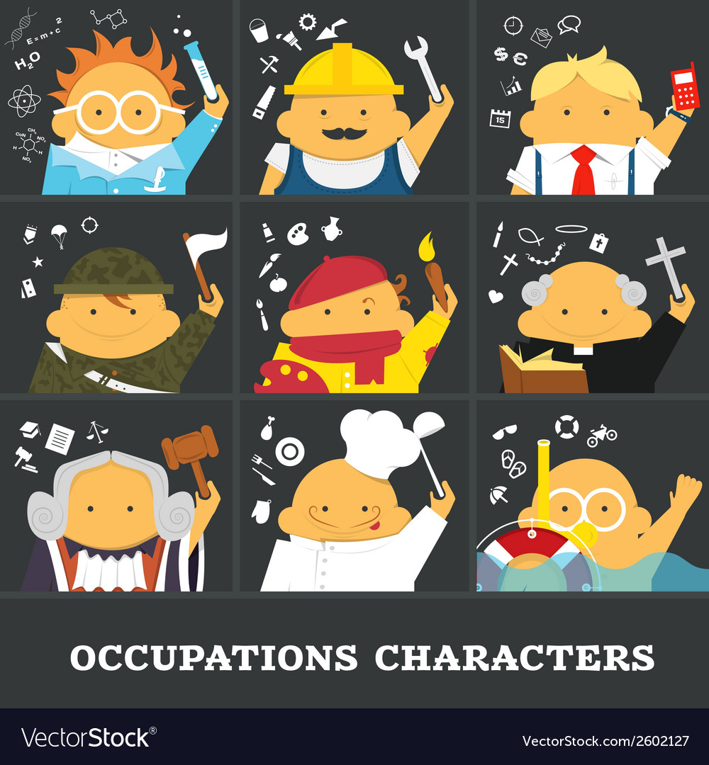 Occupations vector | Price: 1 Credit (USD $1)