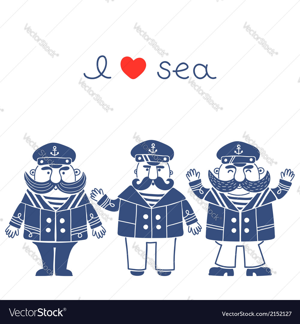 Sea captain vector | Price: 1 Credit (USD $1)