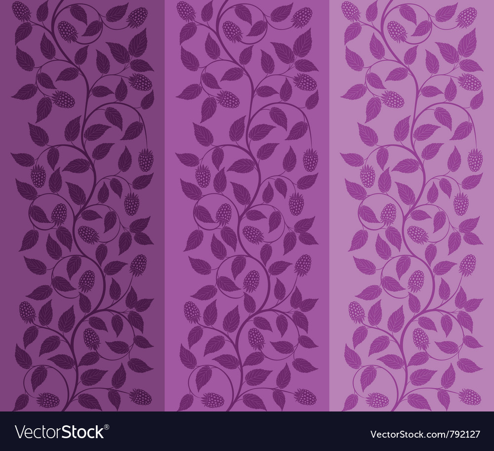 Seamless floral background with a berries vector | Price: 1 Credit (USD $1)