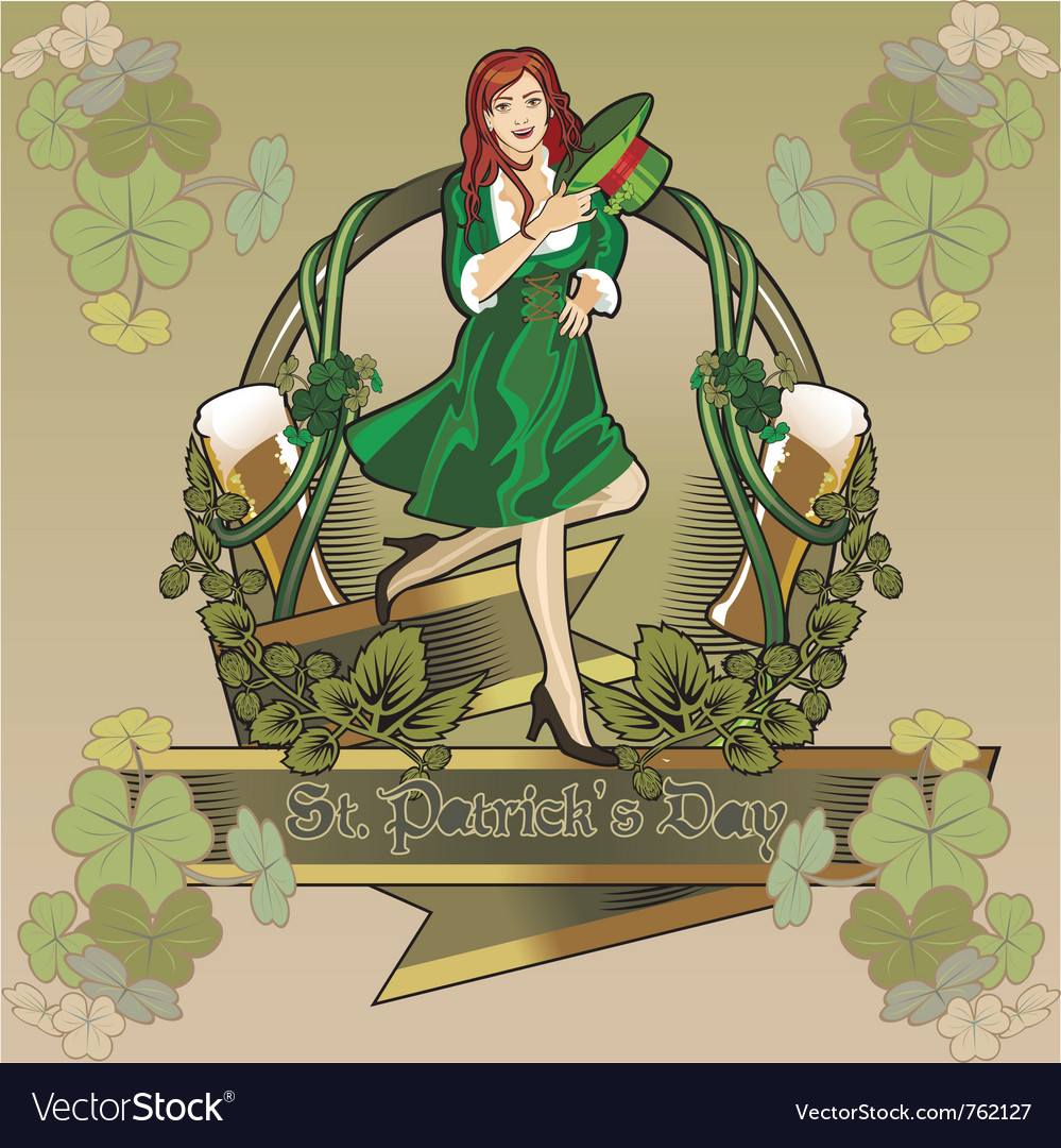 Stpatrick holiday vector | Price: 3 Credit (USD $3)