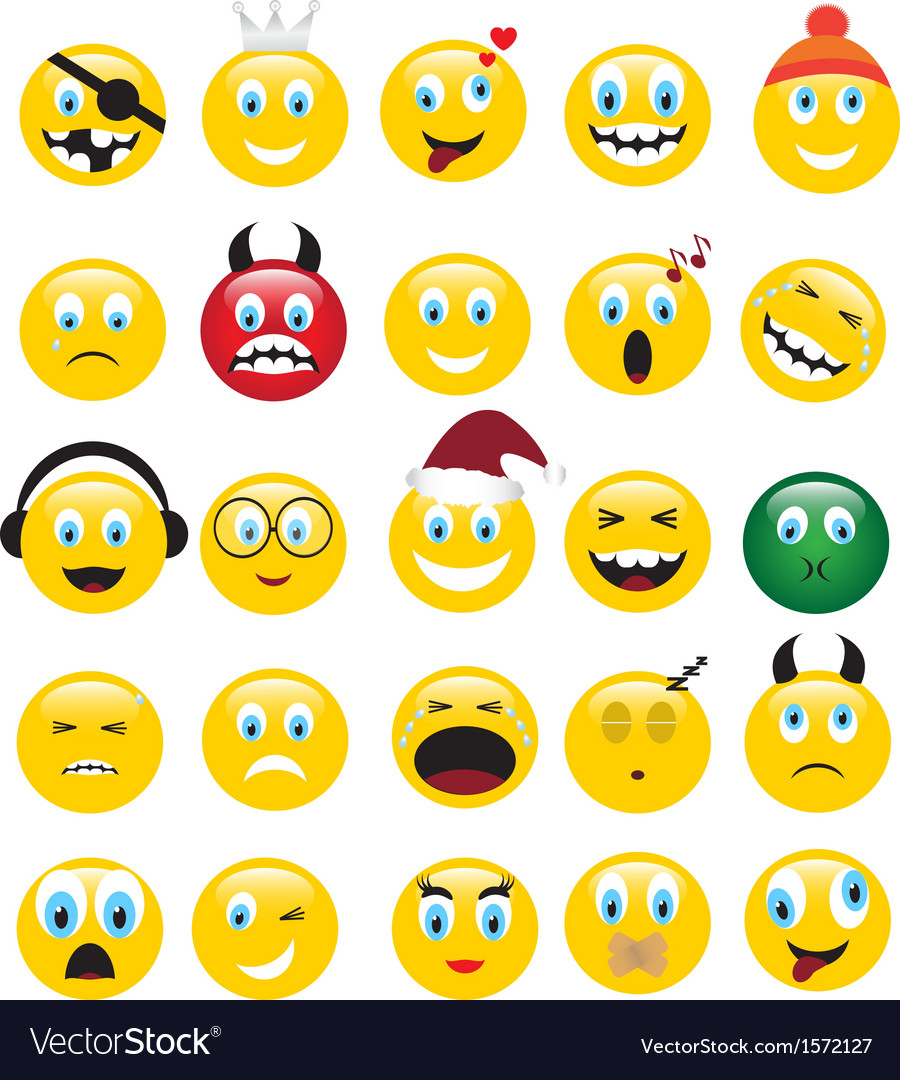 Yellow emotions vector | Price: 1 Credit (USD $1)
