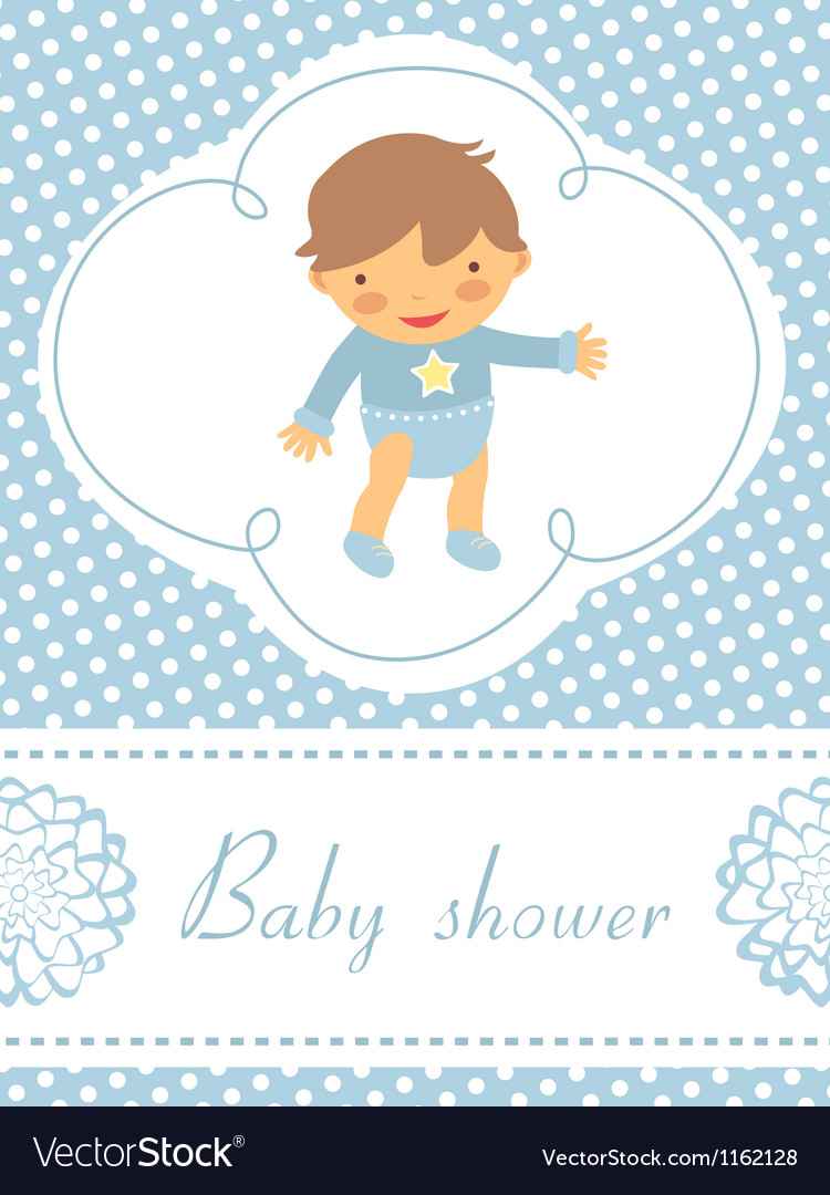 Baby boy card vector | Price: 1 Credit (USD $1)