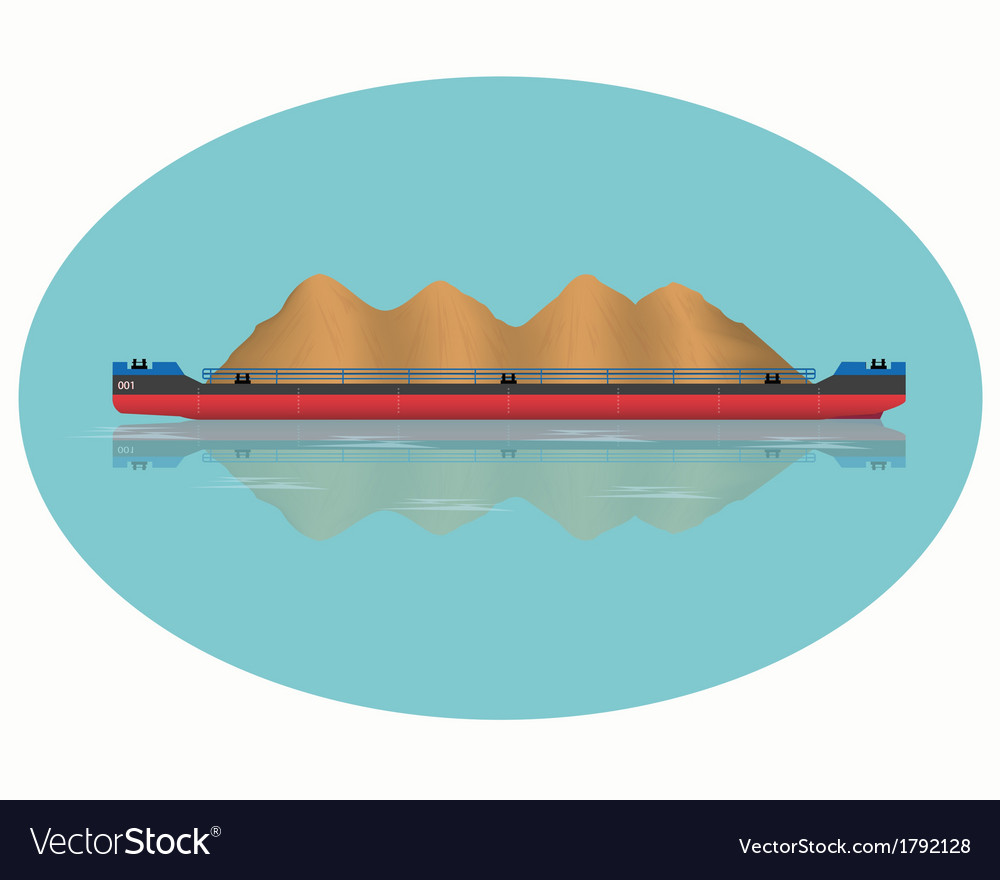 Barge vector | Price: 1 Credit (USD $1)