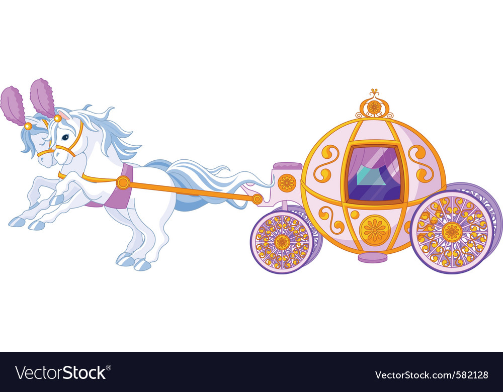 Beautiful fairytale carriage vector | Price: 3 Credit (USD $3)