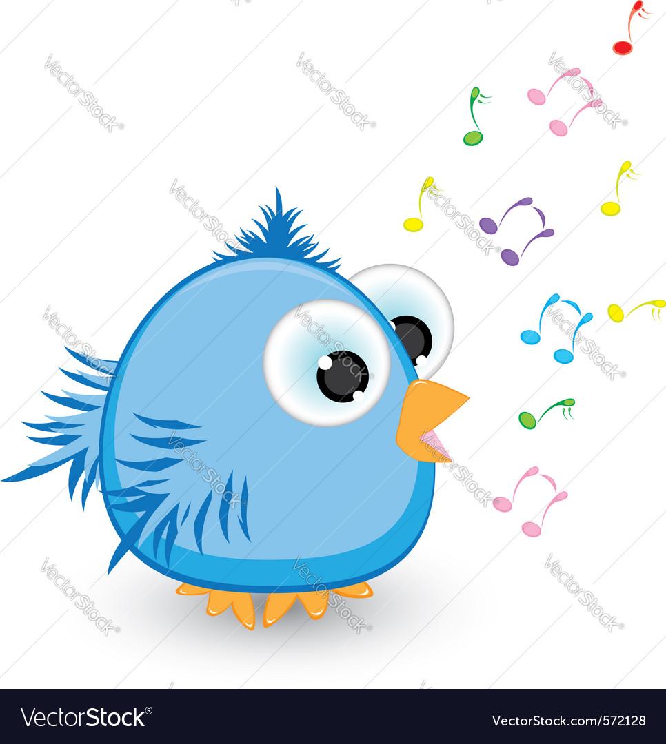 Cartoon sparrow singing vector   Price: 1 Credit (USD $1)