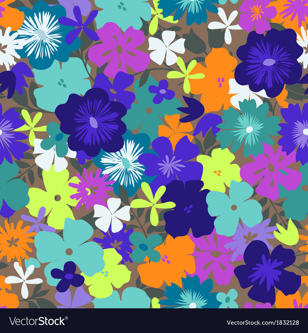 Colorful flower print vector | Price: 1 Credit (USD $1)