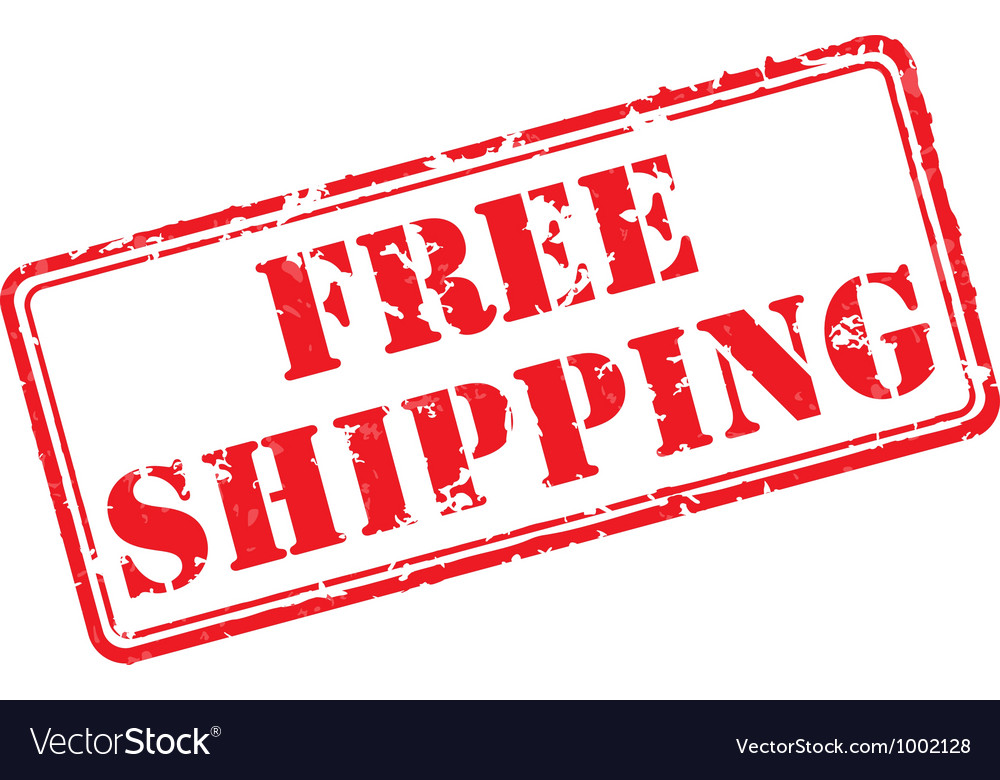 Free shipping rubber stamp vector | Price: 1 Credit (USD $1)