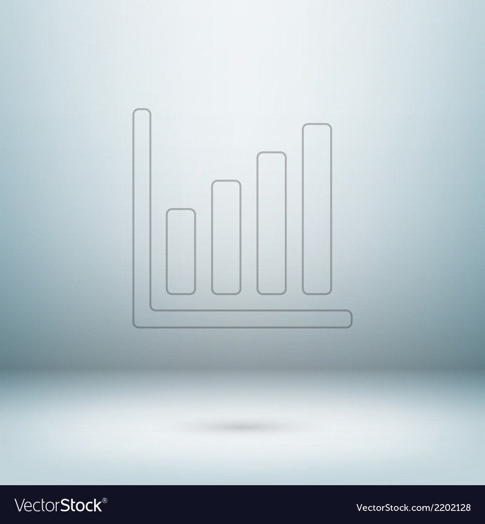 Graph icon in light studio room vector | Price: 1 Credit (USD $1)