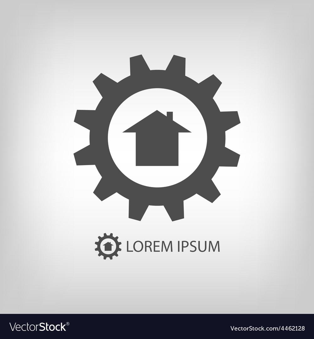 Grey construction company logo vector | Price: 1 Credit (USD $1)