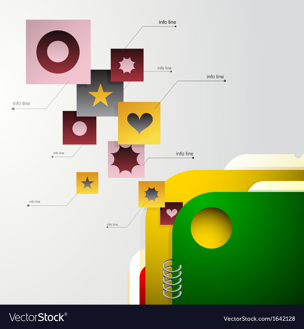 Infographic with folder vector | Price: 1 Credit (USD $1)