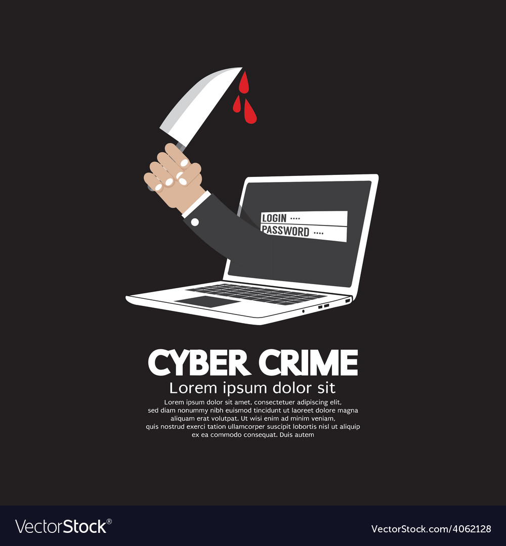 Knife in hand cyber crime concept vector | Price: 1 Credit (USD $1)