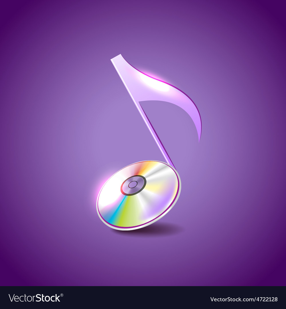 Music note like compact disc background vector | Price: 1 Credit (USD $1)