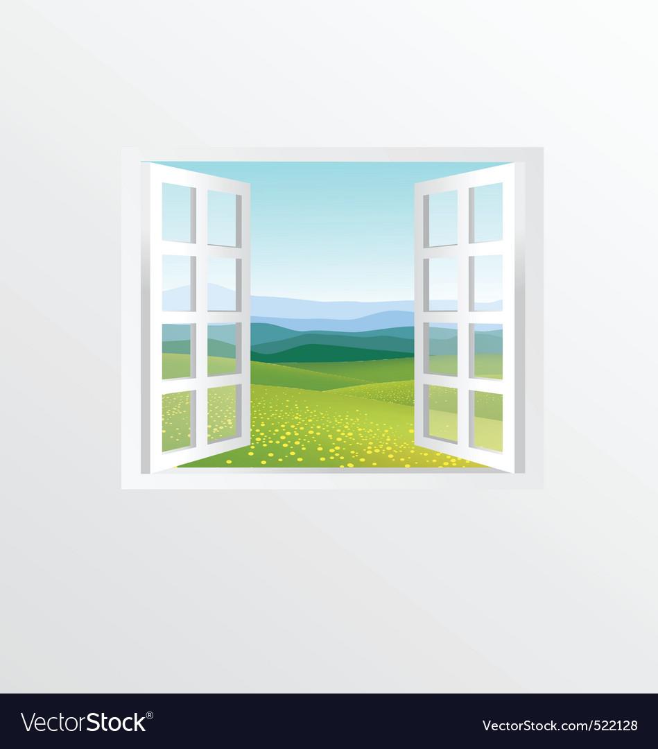 Open windows vector | Price: 1 Credit (USD $1)
