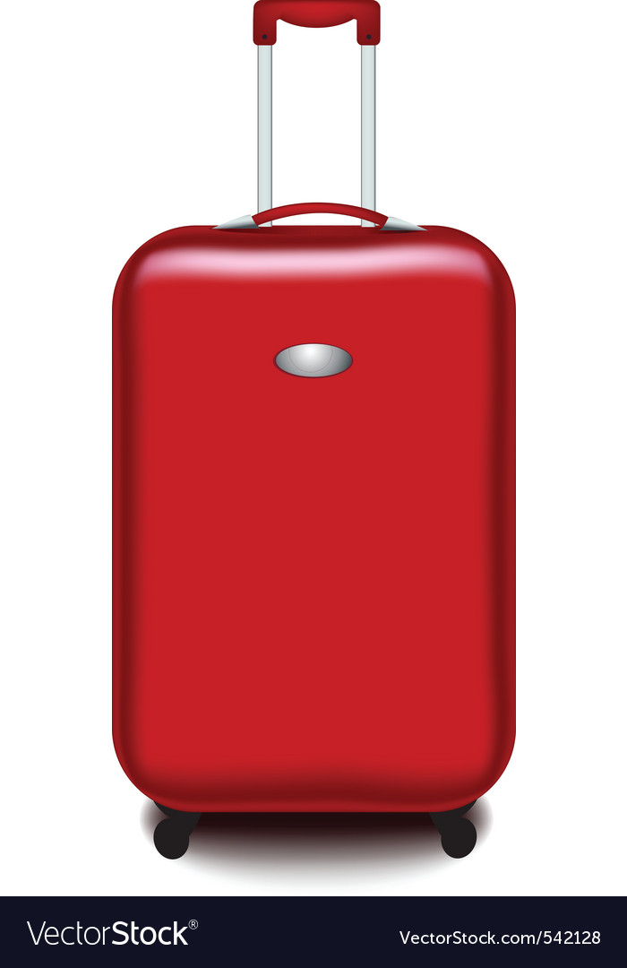Red suitcase vector | Price: 1 Credit (USD $1)