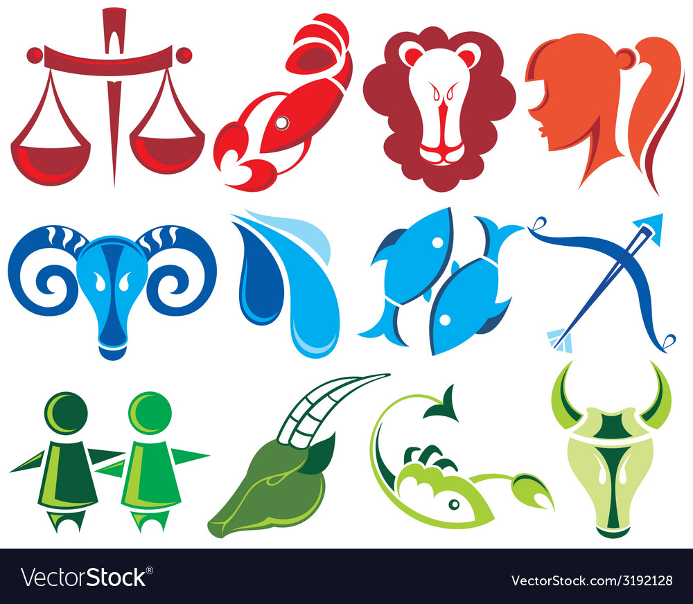Set of zodiac signs vector | Price: 1 Credit (USD $1)