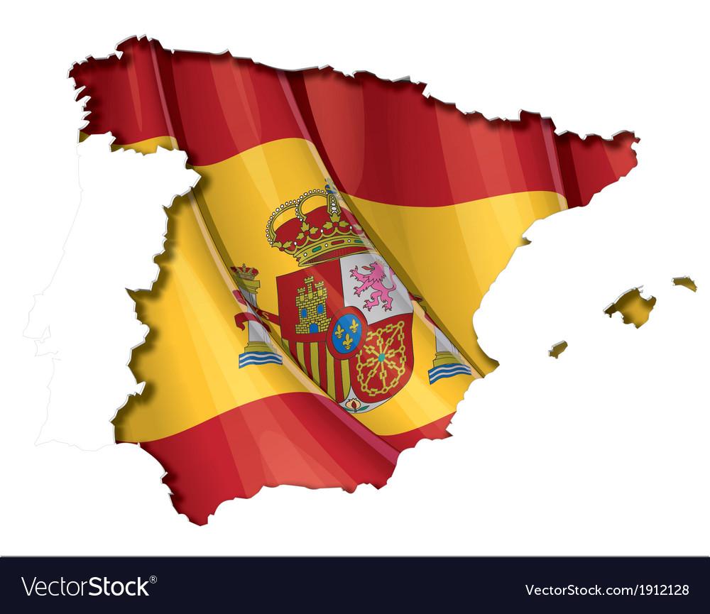 Spanish map flag vector   Price: 1 Credit (USD $1)
