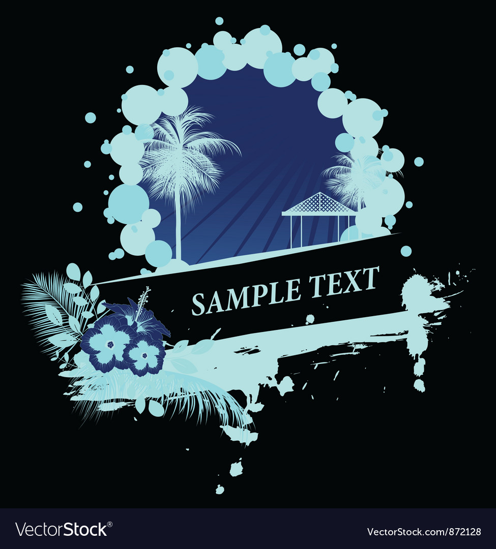 Vintage summer background with palm trees vector   Price: 1 Credit (USD $1)