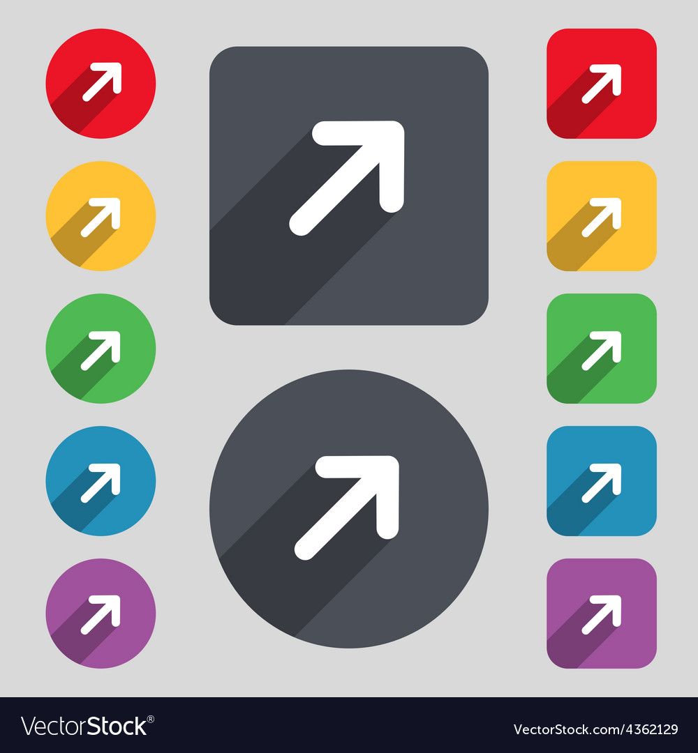 Arrow expand full screen scale icon sign a set of vector | Price: 1 Credit (USD $1)