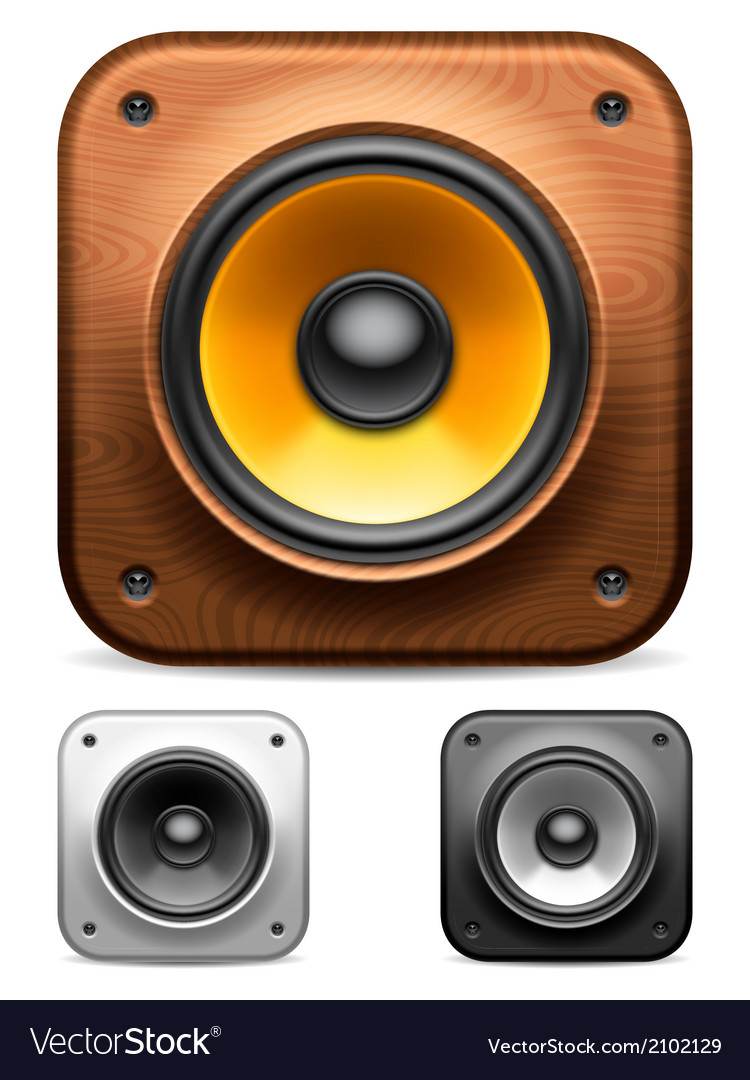 Audio speakers vector | Price: 1 Credit (USD $1)