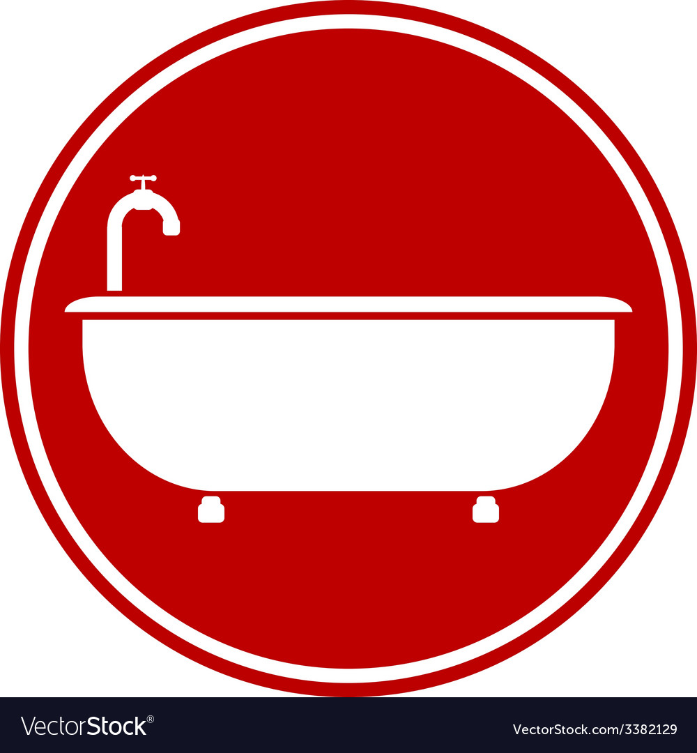 Bathtub button vector   Price: 1 Credit (USD $1)