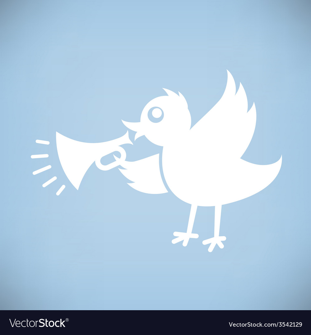 Bird with horn vector | Price: 1 Credit (USD $1)