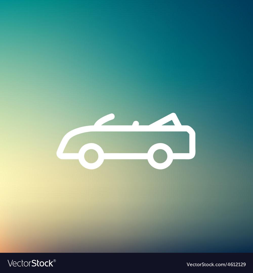Convertible car thin line icon vector | Price: 1 Credit (USD $1)