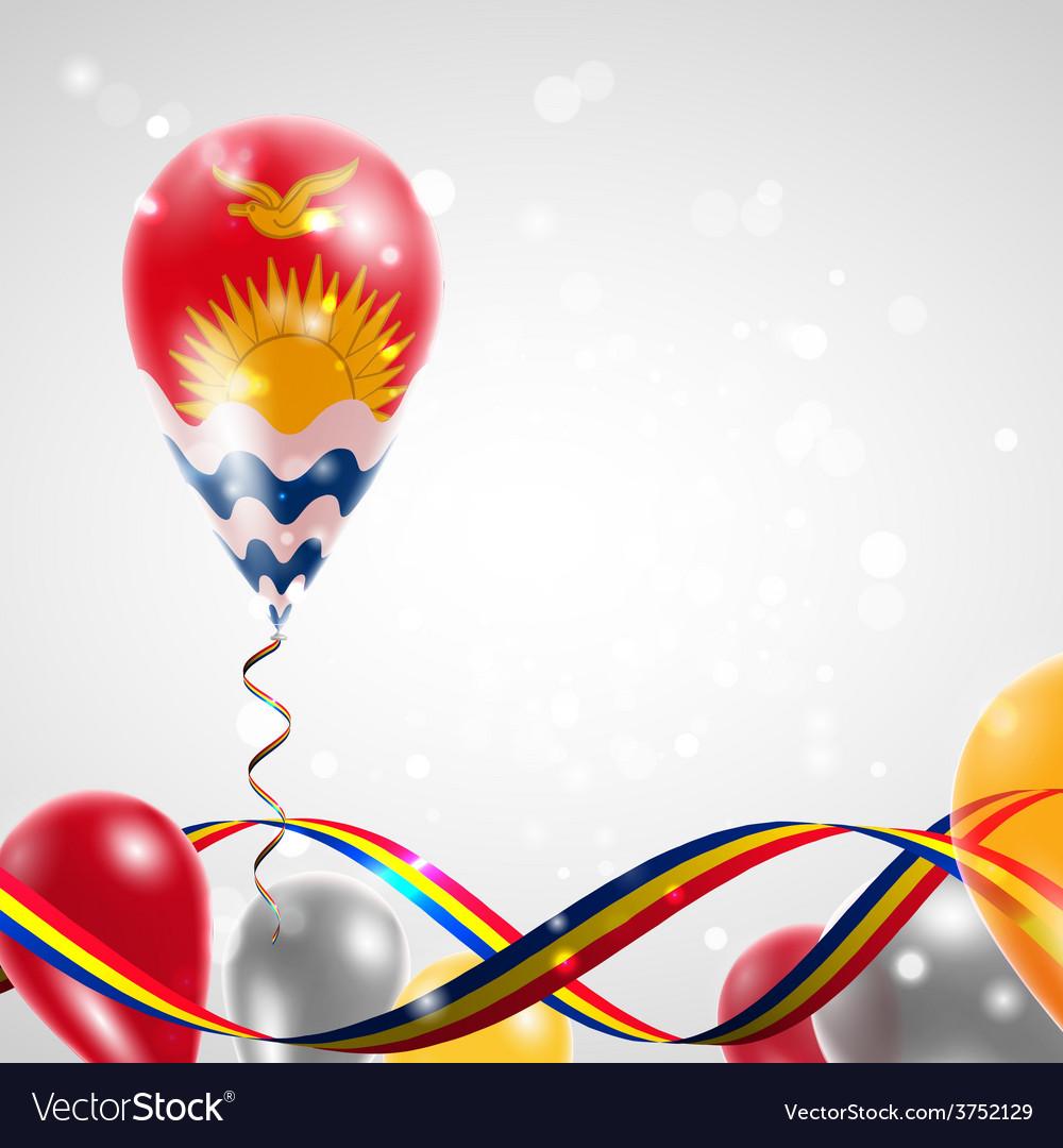 Flag of kiribati on balloon vector | Price: 1 Credit (USD $1)