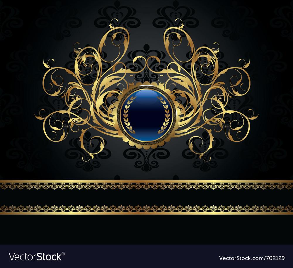 Gold vintage frame for design packing - vector | Price: 1 Credit (USD $1)