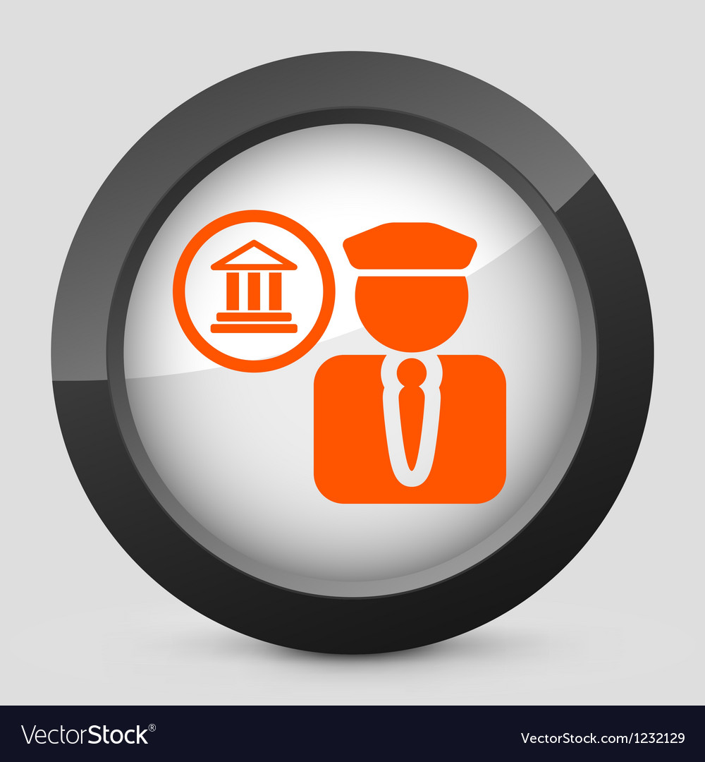 Orange and gray elegant glossy icon vector | Price: 1 Credit (USD $1)