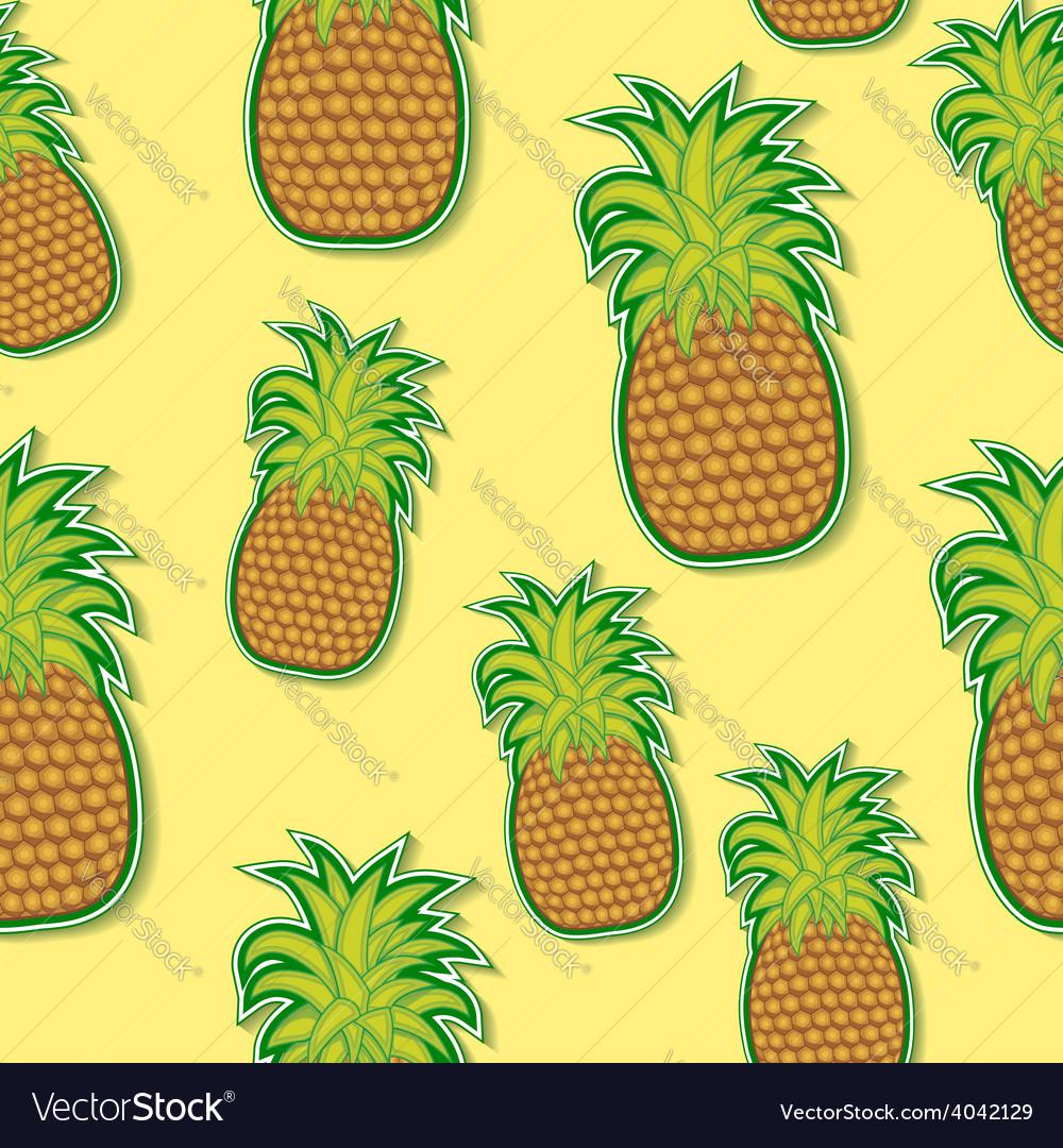 Pineapple sticker pattern vector | Price: 1 Credit (USD $1)