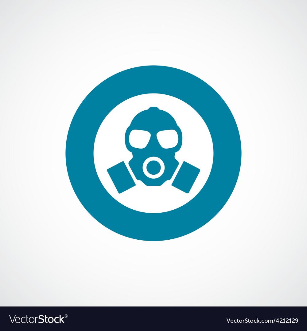 Respirator icon bold blue circle border vector   Price: 1 Credit (USD $1)