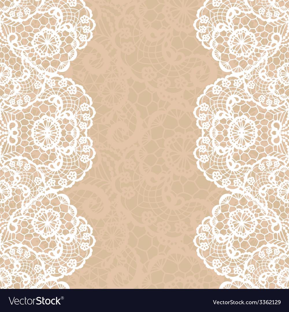 Vintage lace invitation card vector | Price: 1 Credit (USD $1)