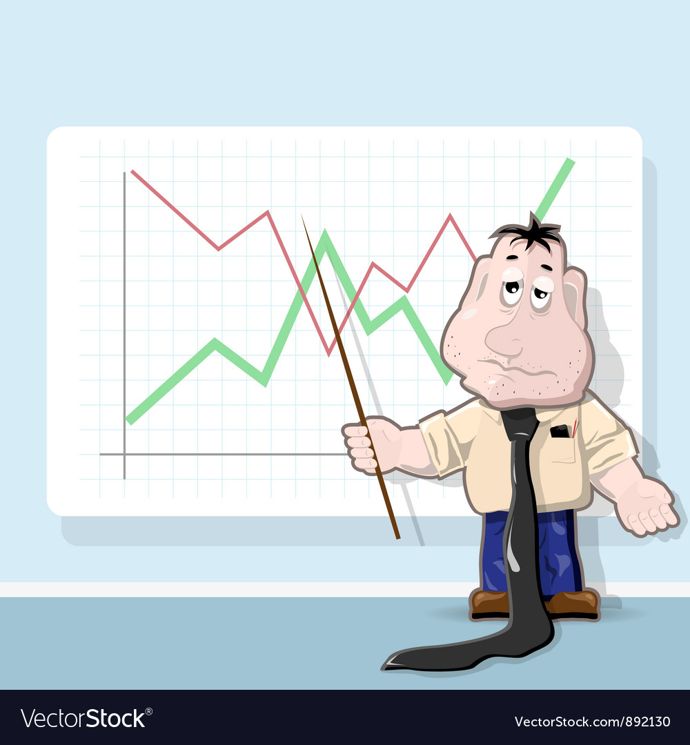 Analyst cartoon vector | Price: 3 Credit (USD $3)